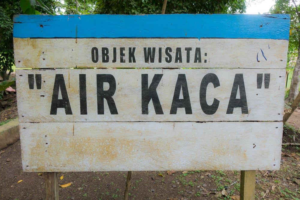 Glass Water sign - Morotai Island