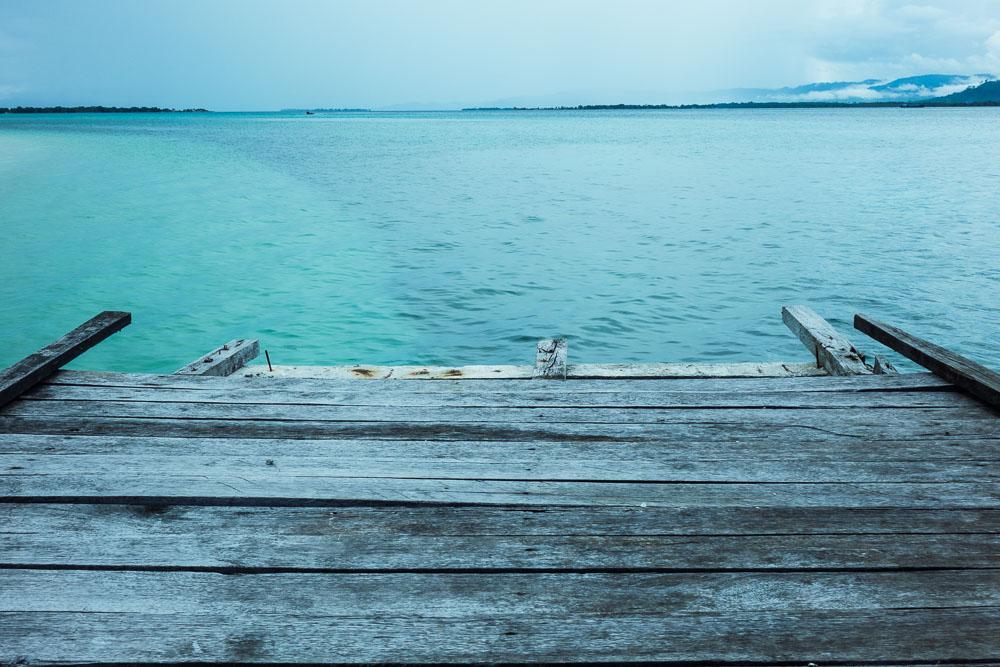 The end of the pier - Morotai Island