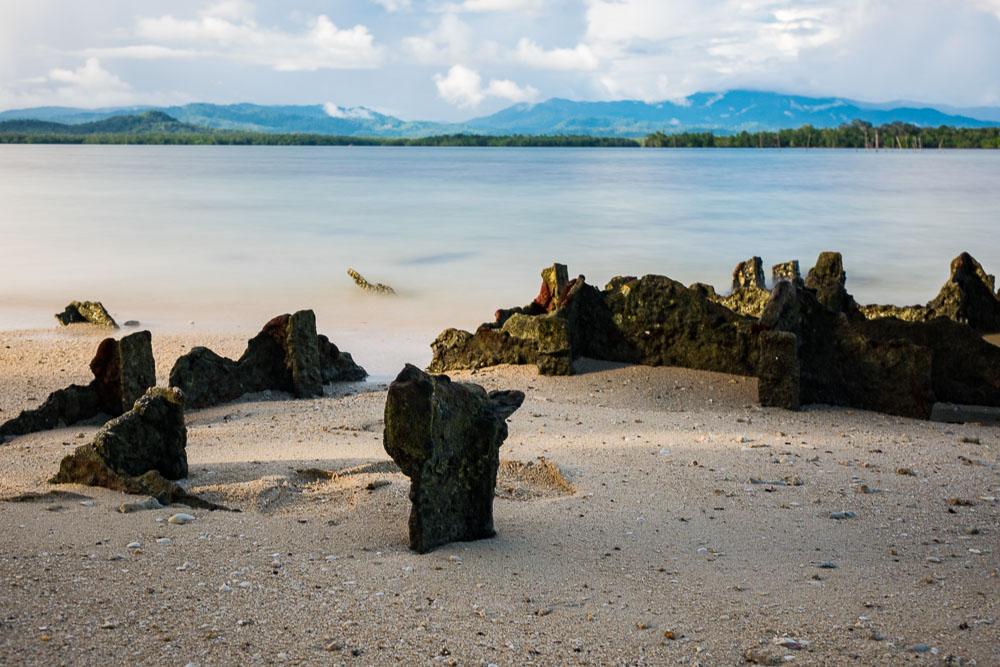 Left over WW2 landing ramps - Morotai Island