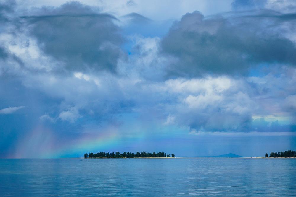 Rainbow over the water - Morotai Island