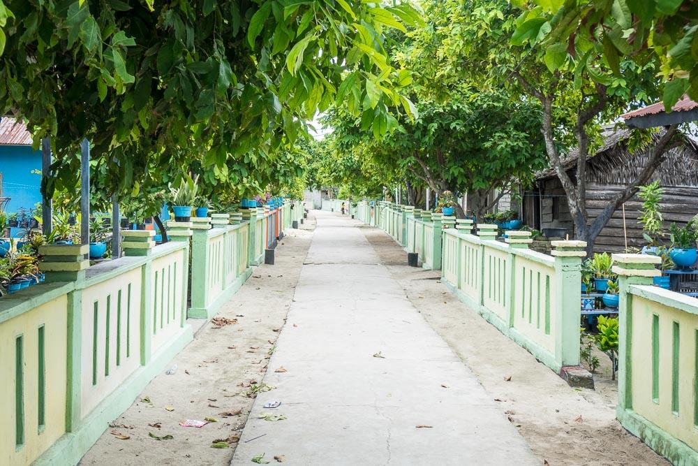 Village street - no cars or bikes - Morotai Island