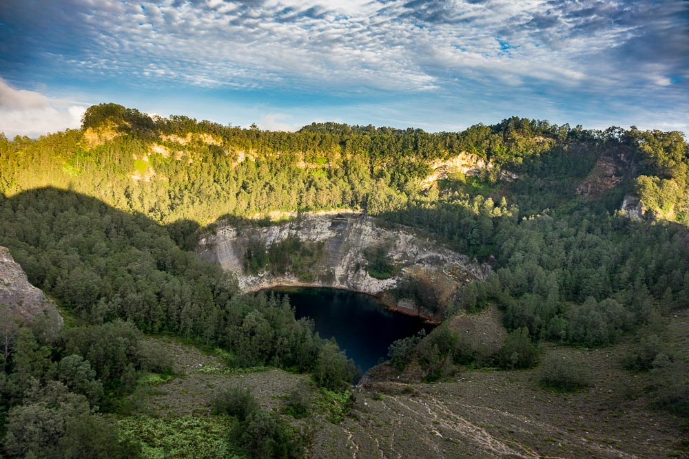 Back lake at Kelimutu