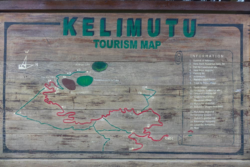 Kelimutu visitor map