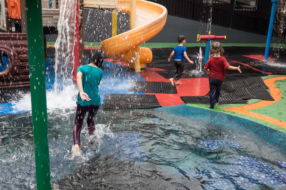 Water play at Playparq Bintaro