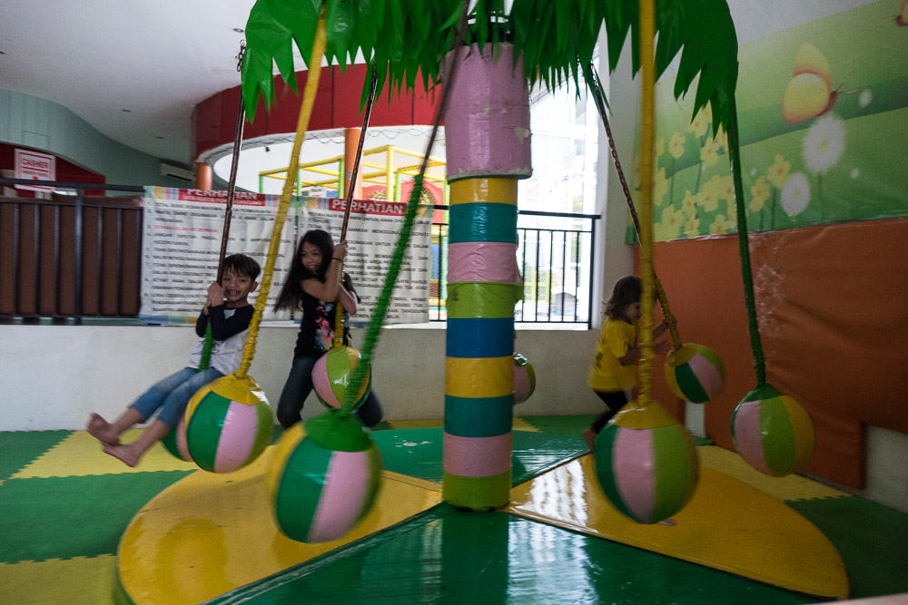 Inside play carousel at Playparq Bintaro