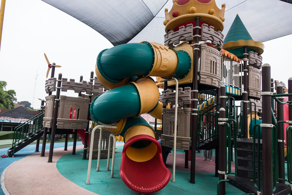 Outdoor slide at Playparq Bintaro