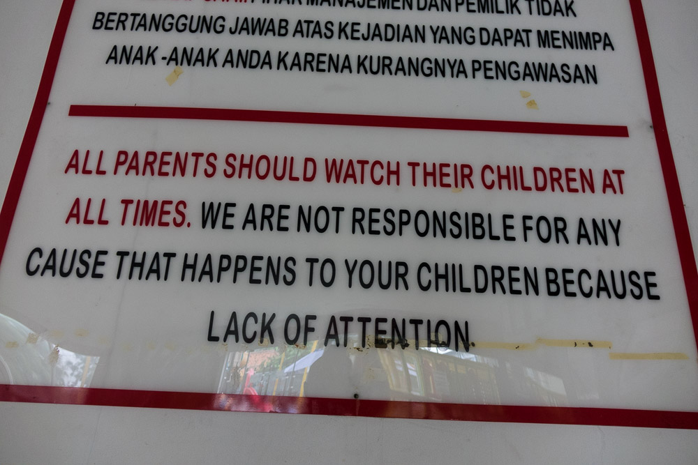 Strange rules at Playparq Bintaro