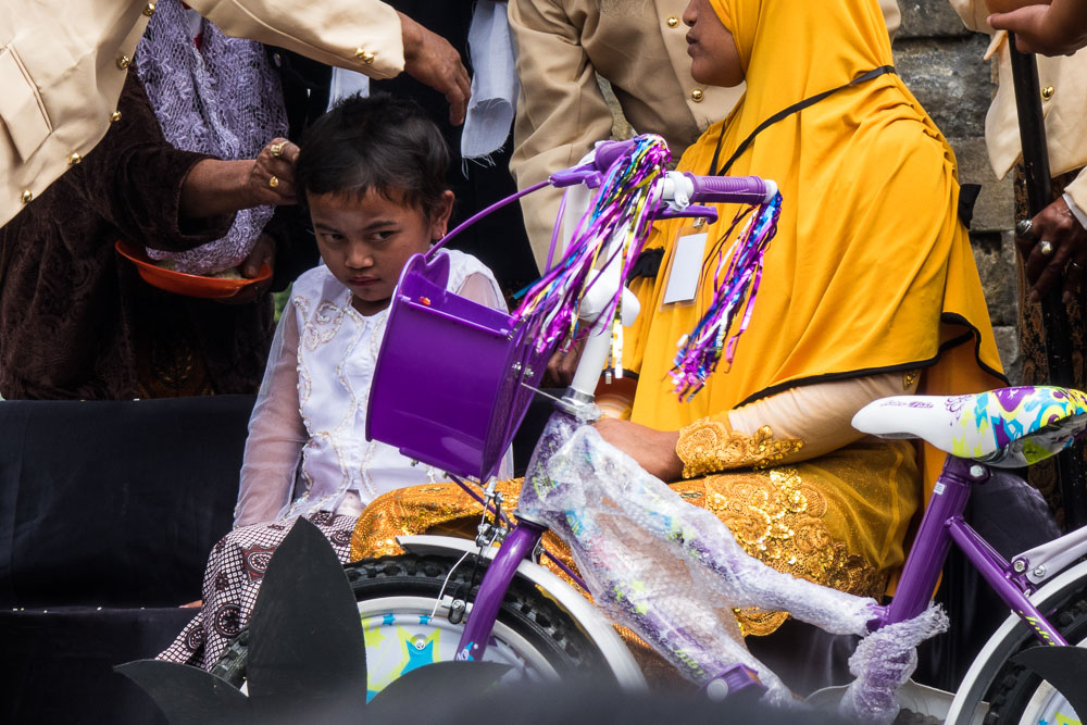 Keep your eye on the bike! - Dieng Culture Festival