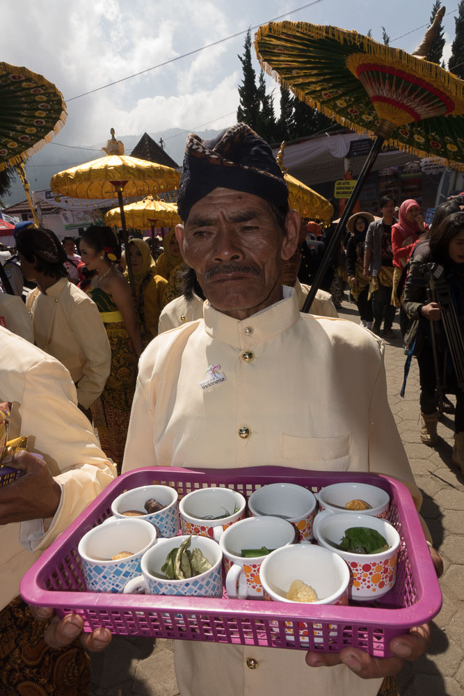 Tray of offerings - Dieng Culture Festival