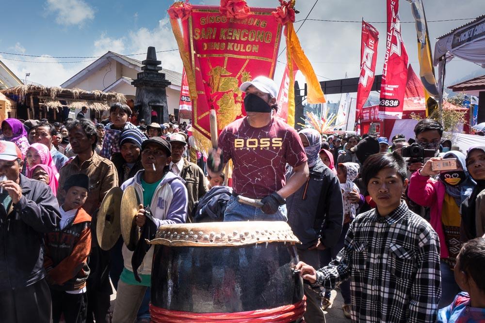 Boss drummer from Silat team - Dieng Culture Festival
