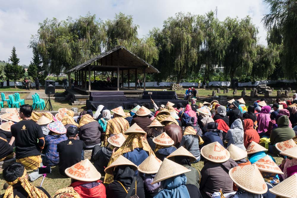 Waiting for the ceremony - Dieng Culture Festival