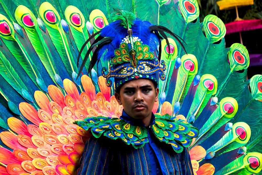 Peacock costume - Tasikmalaya October Festival