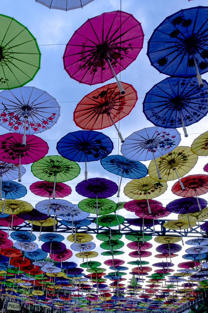 Umbrellas in the sky - Tasikmalaya October Festival