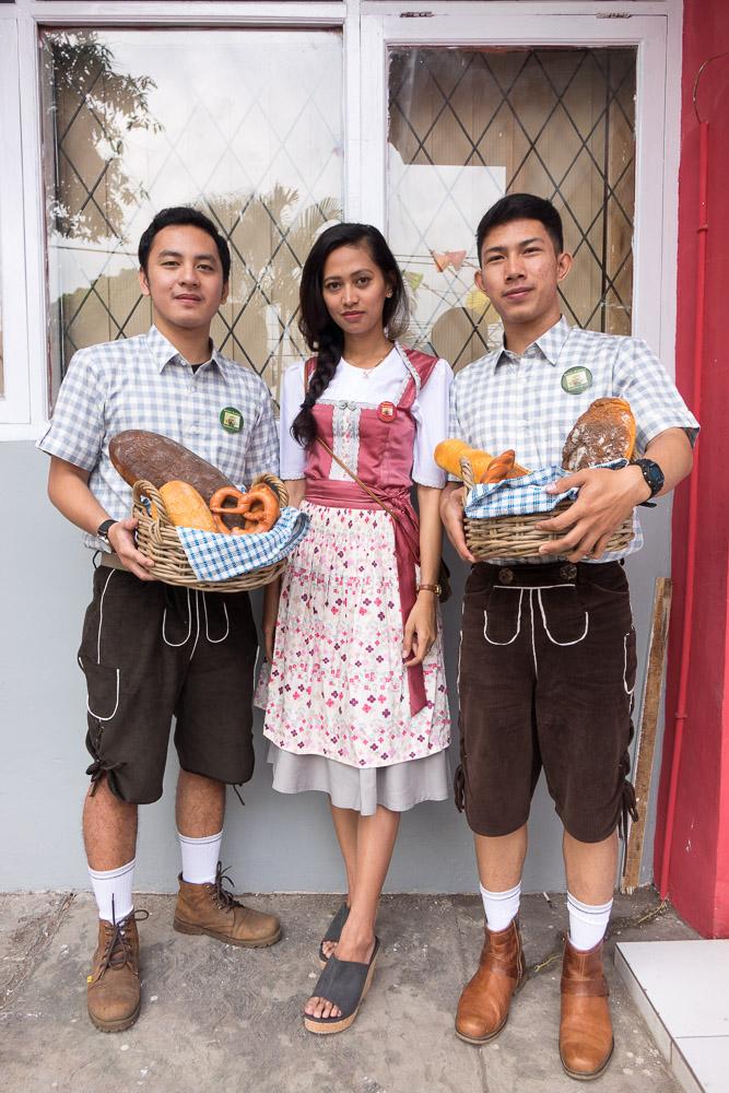 The 'German' delegation. Bread is plastic! - Tasikmalaya October Festival