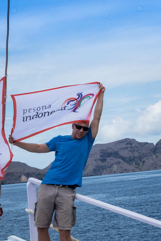 Flying the flag for Pesona Indonesia - Komodo Island Adventure