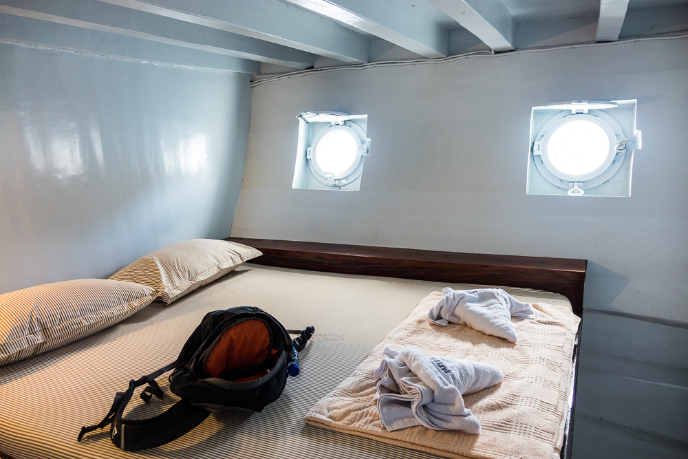 The comfortable cabin on Noah - Komodo Island Adventure