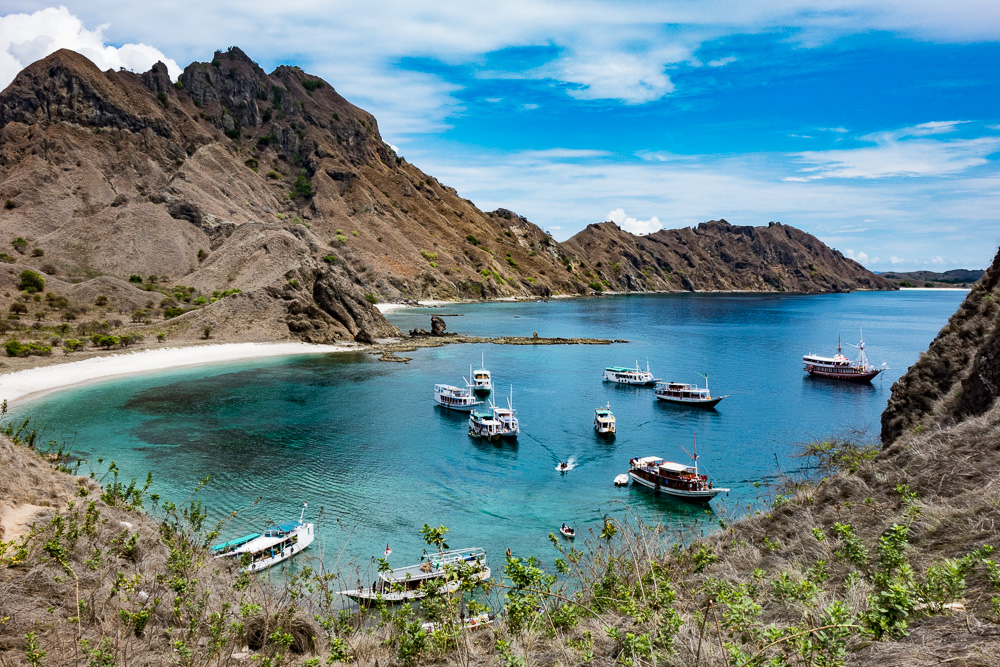 Boats from Padar Island - Komodo Island Adventure