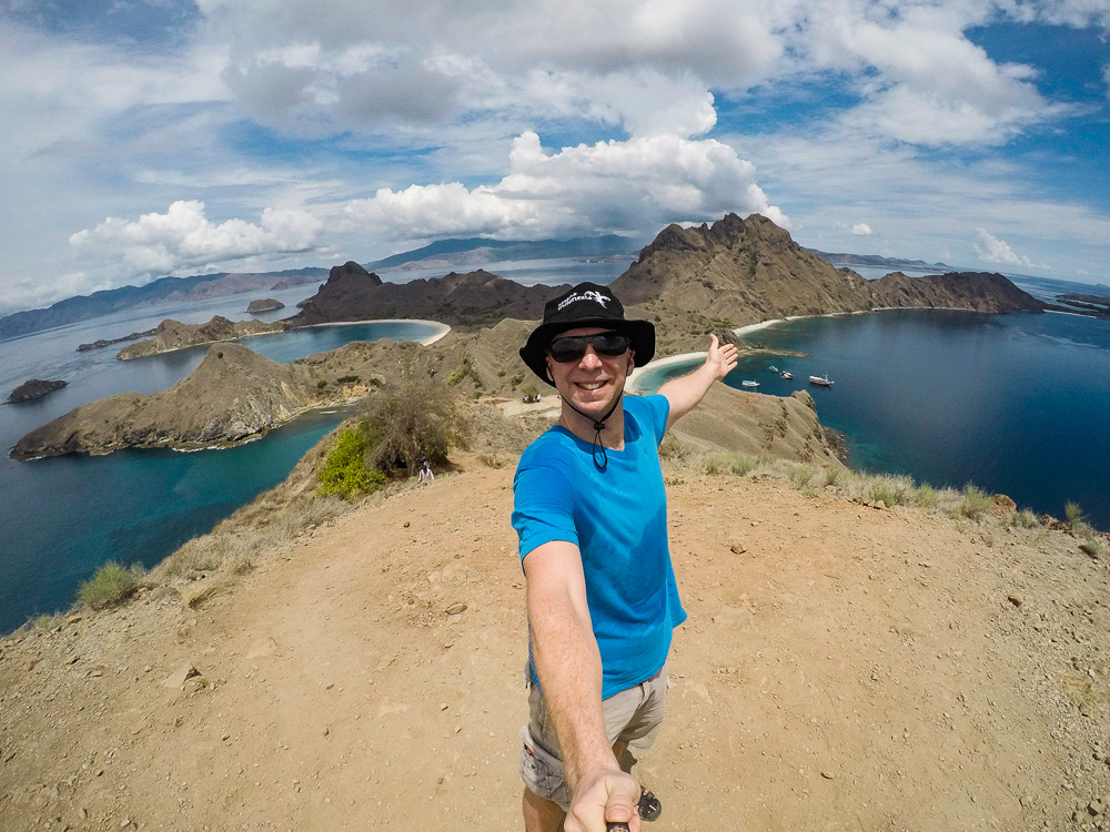 On top of Padar Island - Komodo Island Adventure
