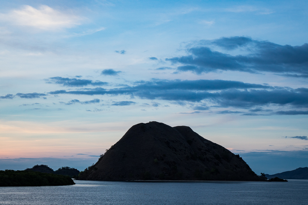 Near Rinca at night - Komodo Island Adventure