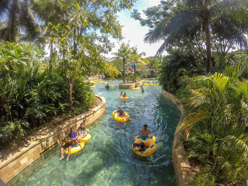 The lazy river - Waterbom Jakarta