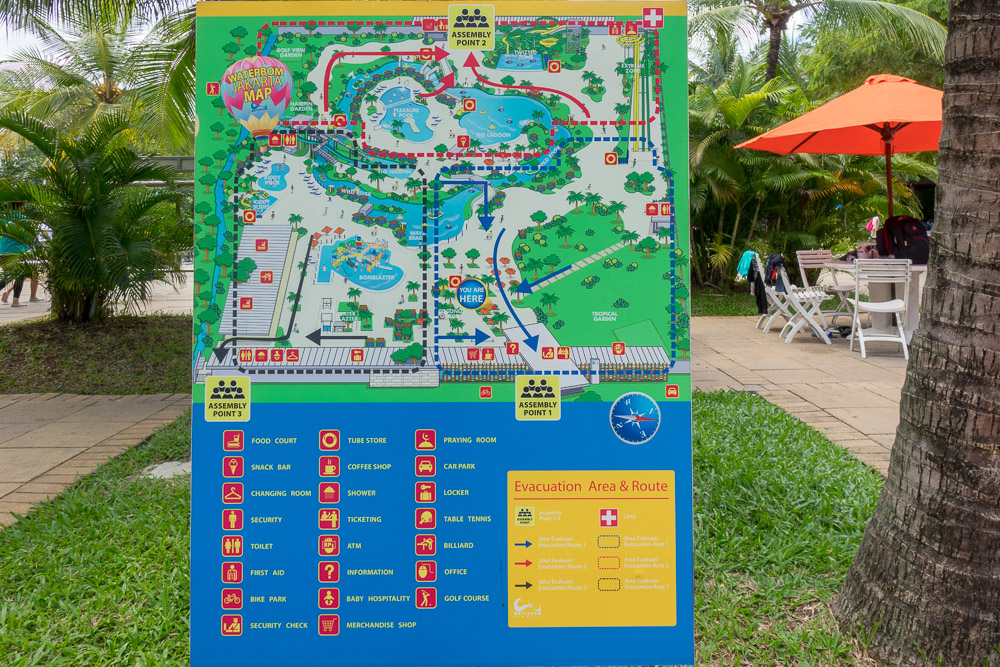 Map of the site - Waterbom Jakarta