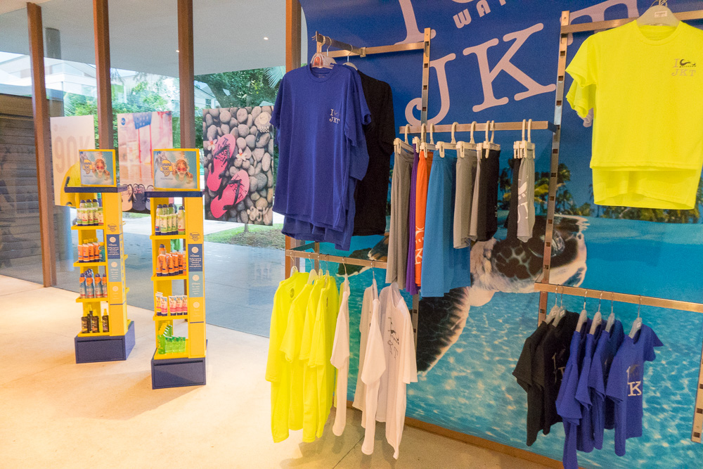 Shirts and suncream - Waterbom Jakarta